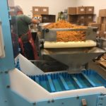 DynaClean Vertical Z Conveyor for mixing nuts