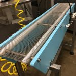 Metal Mesh Belt Conveyor for misting salmon patties