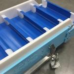 Plastic link style belt conveyor belting