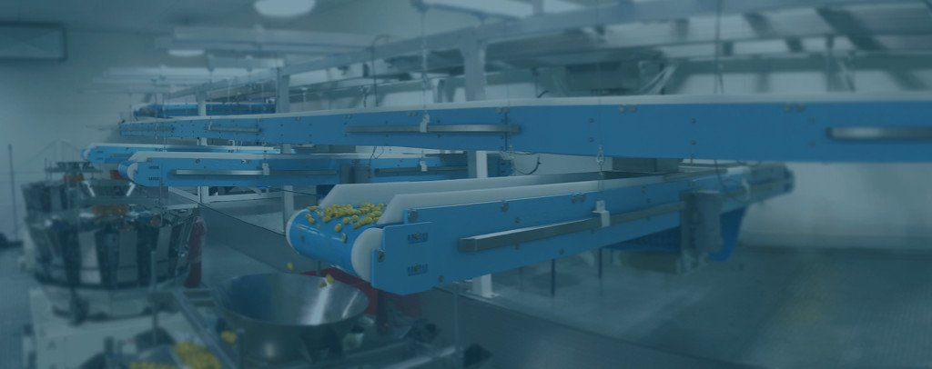 DynaClean conveyor moving objects from one area to another