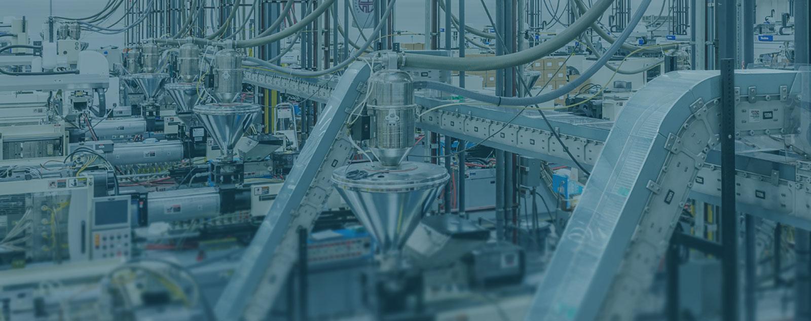 A facility using a variety of DynaCon custom conveyor systems