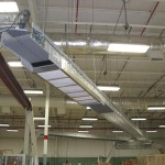 DynaCon conveyors suspended from ceiling.