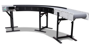 DynaCon lateral or radius turn parts conveyor.