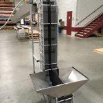 Bucket Elevator / Vertical Conveyor with Split Belt & Hopper
