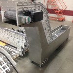 Rapid parts cooling system for a conveyor