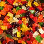 Gummy bears sticky food product