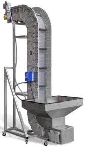 Vertical Z Conveyor on display at NPE 2018