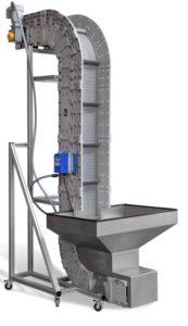 Vertical Z Conveyor on display at NPE 2018