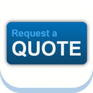Custom Conveyor Quote Request Logo in Blue and White