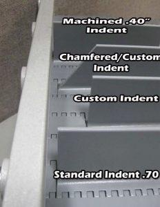 Conveyor drive flight indents