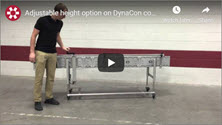 Video Showing the Adjustable Height Option on a DynaCon Conveyor