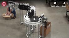 DynaCon Radius Turn Conveyor Video