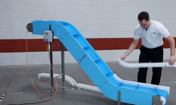 DynaClean conveyors are easy to assemble.