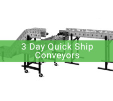 3 day quick ship conveyors